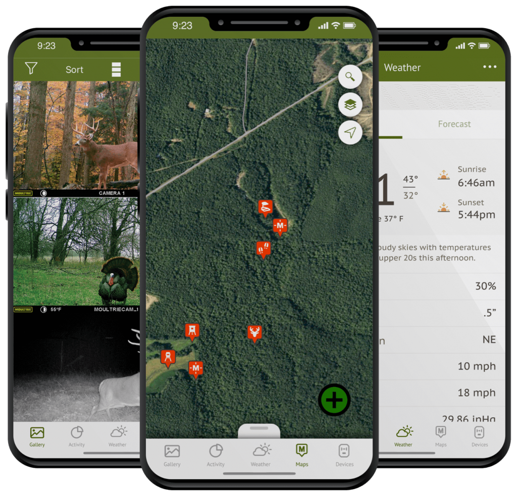 Moultrie Mobile app on iPhone